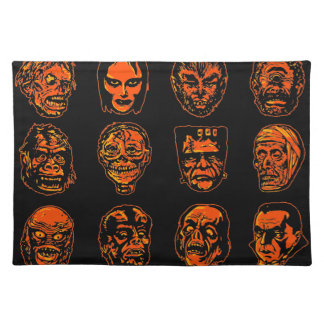 Halloween Monster Masks Placemat