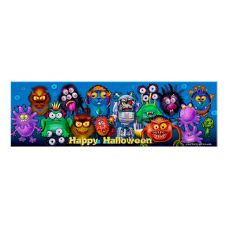 Halloween Monster Mixer party  poster