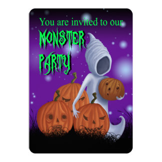 Halloween Monster Party Invitation