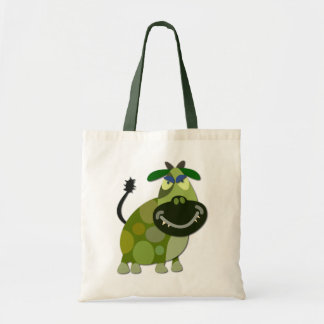 Halloween monsters 00002 Green Cow Budget Tote Bag