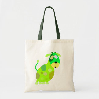 Halloween monsters 00002G Green Cow Budget Tote Bag
