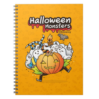Halloween monsters notebook