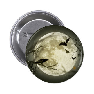 Halloween Moon Pinback Button