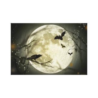Halloween Moon. Canvas Print