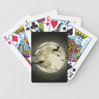 Halloween moon - full moon illustration bicycle playing cards