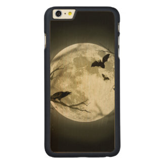 Halloween moon - full moon illustration carved maple iPhone 6 plus case