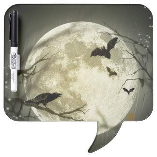 Halloween moon - full moon illustration dry erase board