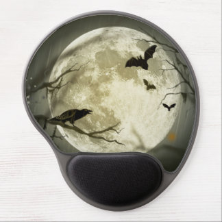 Halloween moon - full moon illustration gel mouse pad
