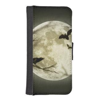 Halloween moon - full moon illustration iPhone SE/5/5s wallet case