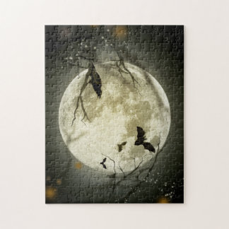 Halloween moon - full moon illustration jigsaw puzzle