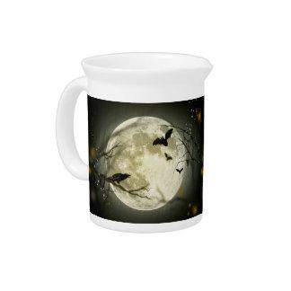 Halloween moon - full moon illustration pitcher