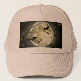 Halloween moon - full moon illustration trucker hat