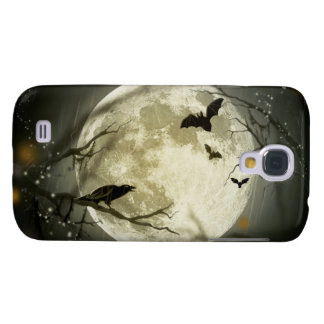 Halloween Moon Spooky Crows Samsung Galaxy S4 Covers