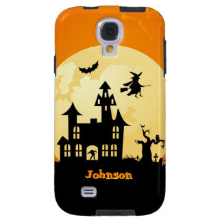Halloween Moonlight Haunted House in Graveyard Galaxy S4 Case