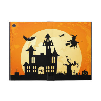 Halloween Moonlight Haunted House in Graveyard Covers For iPad Mini