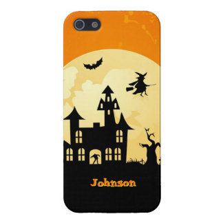 Halloween Moonlight Haunted House in Graveyard iPhone 5/5S Covers