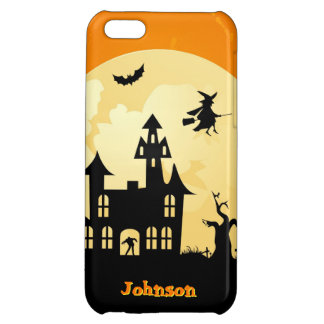Halloween Moonlight Haunted House in Graveyard iPhone 5C Cover