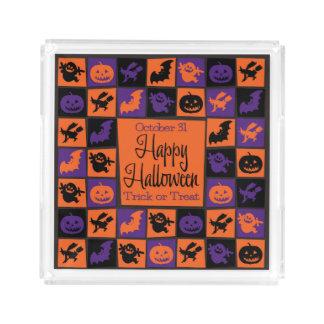 Halloween mosaic acrylic tray