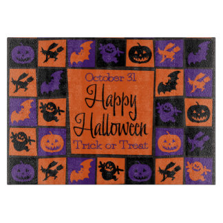 Halloween mosaic cutting boards