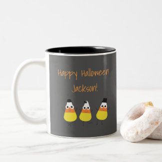 Halloween Mug with Candy Corn Graphics