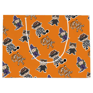 Halloween. Mummies Witches and Bad Guys. Large Gift Bag