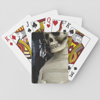Halloween Mummy and Spooky House Playing Cards