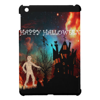 Halloween mummy at witche's house iPad mini covers