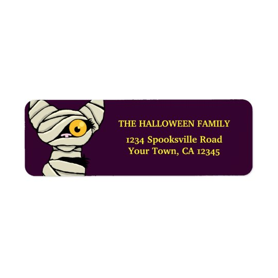Halloween Mummy Cat Return Address Labels