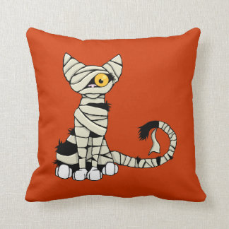 Halloween Mummy Cat Reversible Cushion