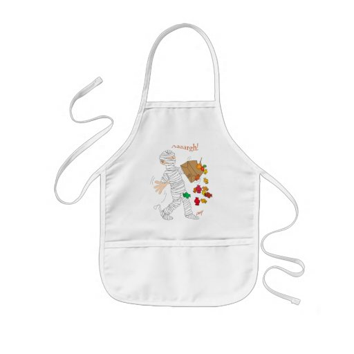 Halloween mummy  costume with candy bag. apron