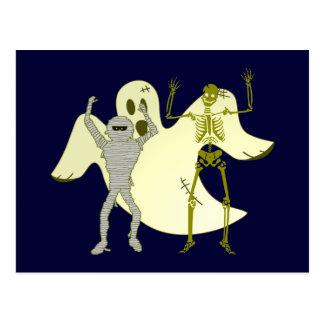 Halloween mummy spirit skeleton mummy ghost skelet post cards