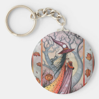 Halloween Mystic Witch by Molly Harrison Key Ring