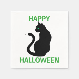 Halloween Napkin/Black Cat Disposable Serviette