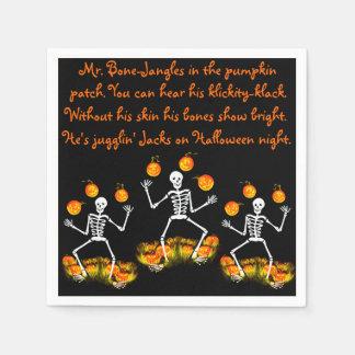 "Halloween napkins ""Mr. bone-Jangles"" Disposable Napkin"