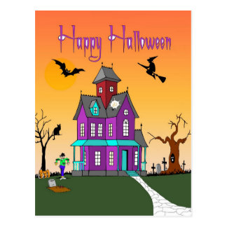 Halloween Neighborhood Post Card