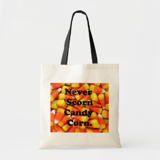 Halloween Never Scorn Candy Corn Pattern Budget Tote Bag