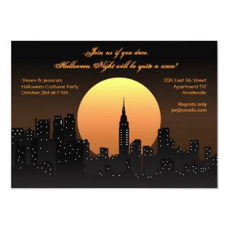 "Halloween Night Cityscape Invitation 5"" X 7"" Invitation Card"