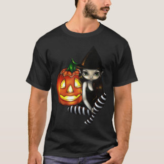 Halloween Night cute gothic witch  & pumpkin Shirt