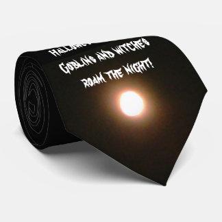 HALLOWEEN NIGHT FULL MOON tie