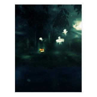 Halloween Night Gate Postcard