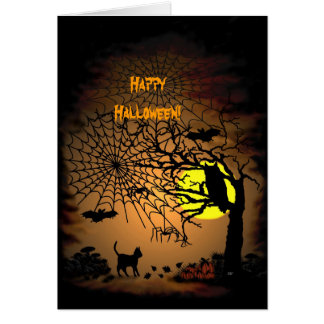 Halloween Night , Happy Halloween! Greeting Card