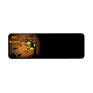 Halloween Night , Happy Halloween! Return Address Label