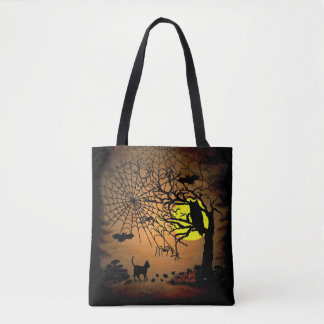 Halloween Night , Happy Halloween ! Tote Bag