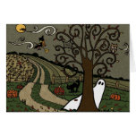 Halloween Night In The Country - Greeting Card