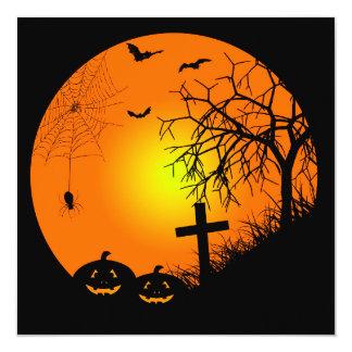 Halloween night 13 cm x 13 cm square invitation card