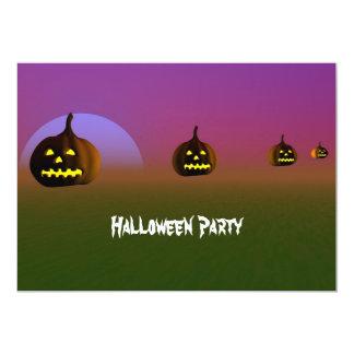 "Halloween Night Party Invitation   Pumpkin 5"" X 7"" Invitation Card"