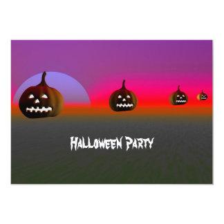"Halloween Night Party Invitation   Pumpkin 4 5"" X 7"" Invitation Card"