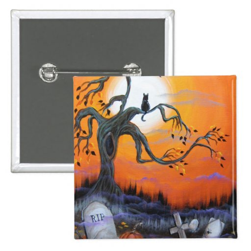 Halloween Night Products Pinback Buttons