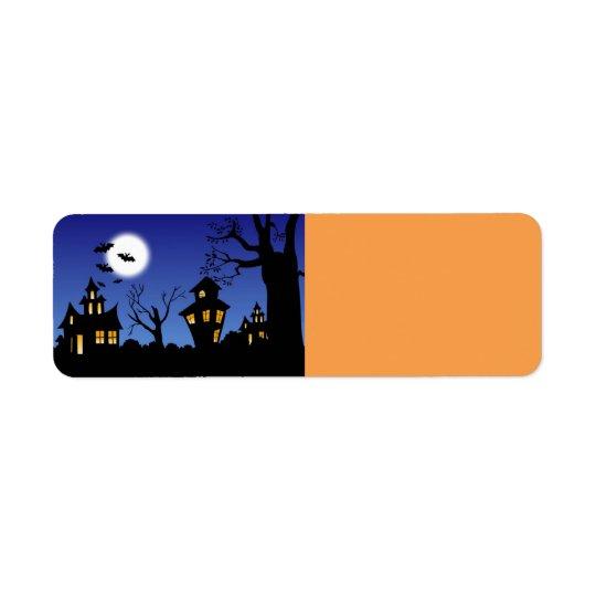 Halloween Night Return Address Label