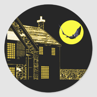 Halloween Night Round Sticker